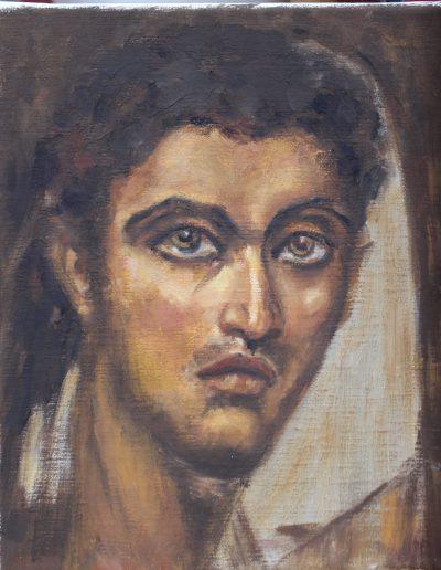 Cire sur bois d'après portrait du Fayoum | cours de peinture à Paris