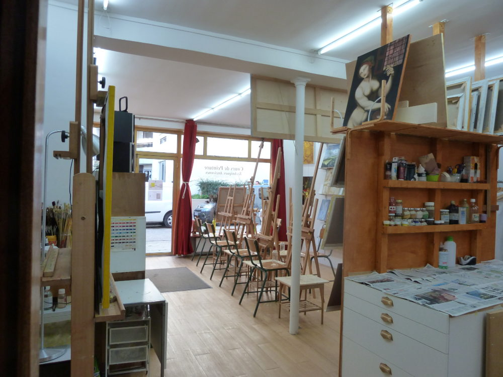 Painting classes in Paris, art studio paris, atelier baroque paris