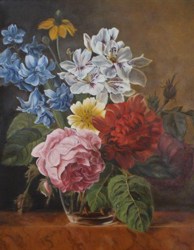 Huile sur toile, Aude Duret d'après Van Aelst | cours de peinture Paris