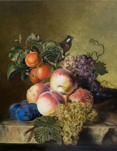 Huile sur toile, Dominique Dutheuil d'après Van Aelst | cours peinture paris