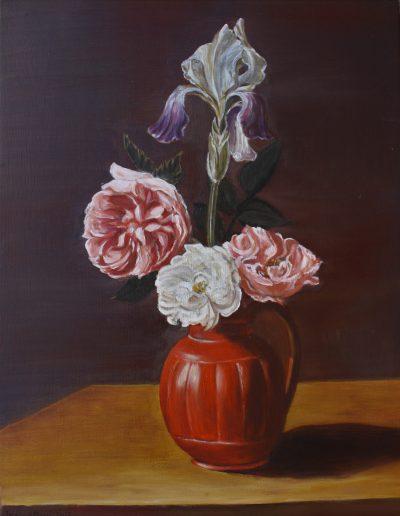 Cours copie de tableaux Paris - Huile sur bois - Jocelyne Massi d'après Nature morte | cours peinture paris