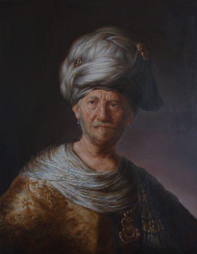 Cours peinture paris - Atelier Baroque - Caroline Yé - Huile sur bois d'après Rembrandt | cours peinture paris