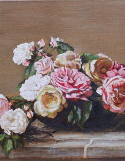 Huile sur toile - Marie Christine Ayache d'après Fantin Latour | cours de peinture paris