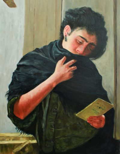 """Saudade"" d'après Almeida Junior pars Marie Claire Decousu | atelier baroque"