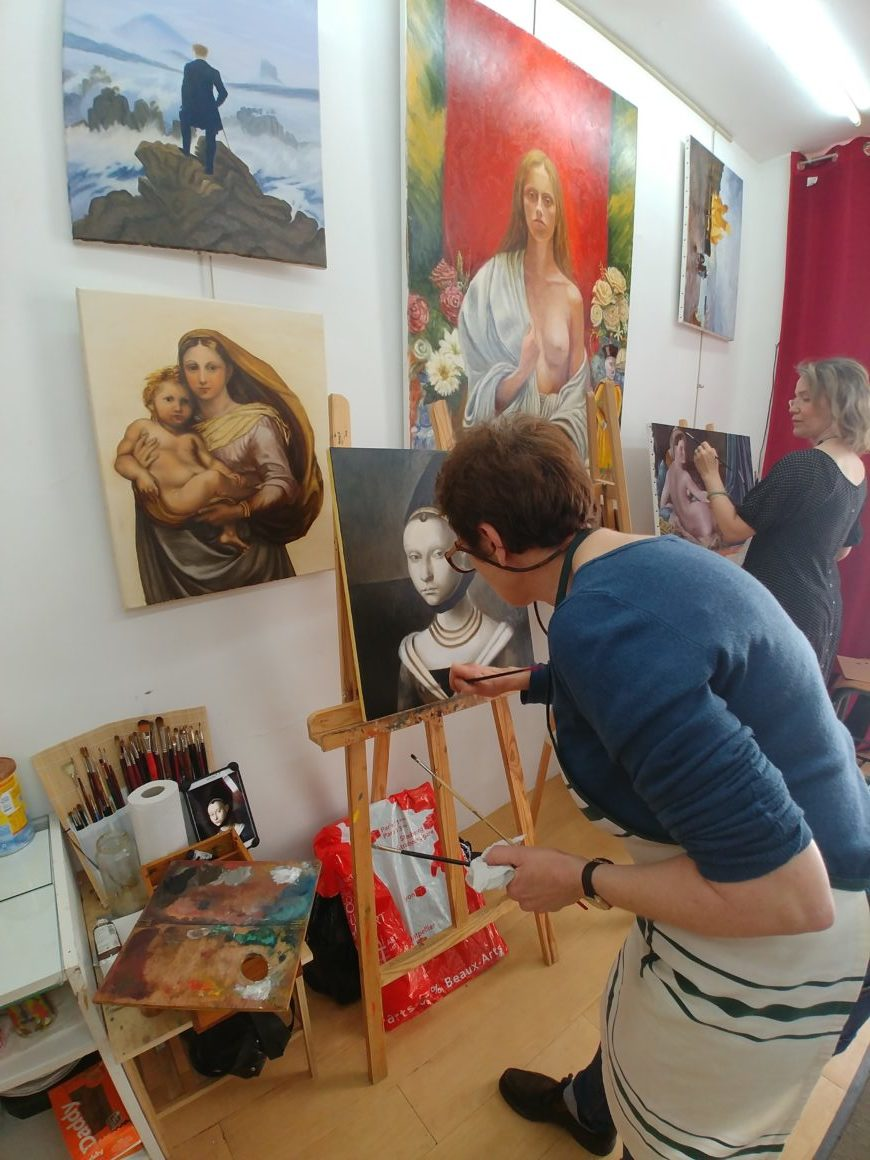 Painting classes in Paris, Paris painting courses, atelier baroque