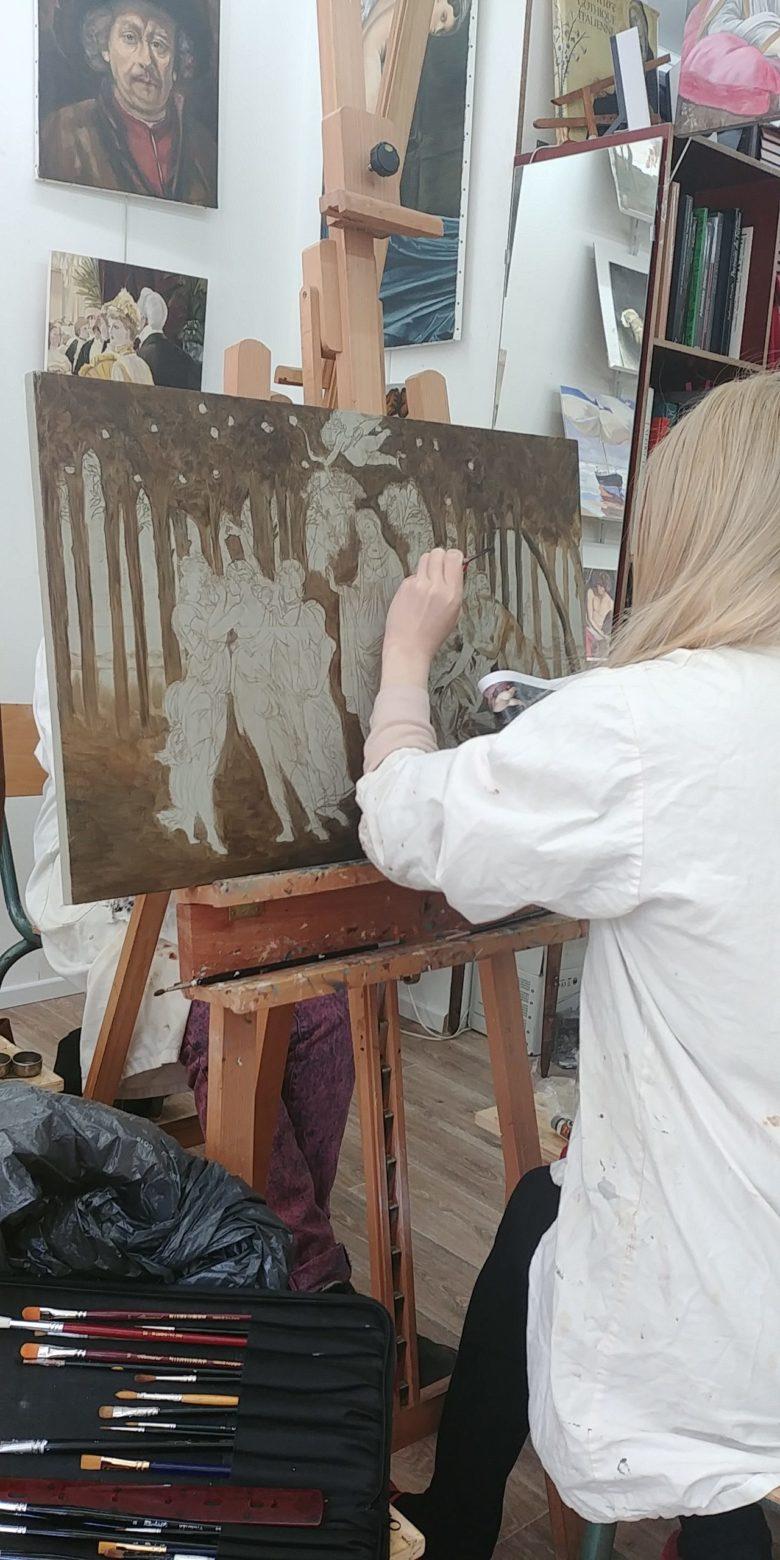 stages de peinture paris